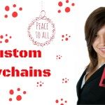 Shop For Custom Keychains  In Christmas Colors Of Red, Green And White