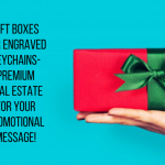 Gift Boxes For Engraved Keychains- Premium Real Estate For Your Promotional Message