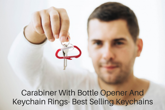 Carabiner With Bottle Opener And Keychain Rings- Best Selling Keychains (1)