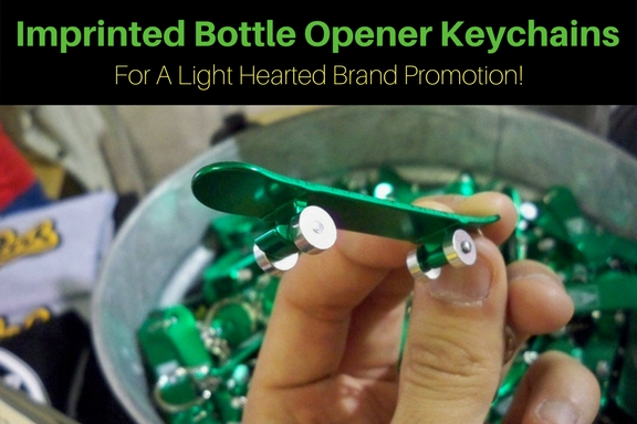 Imprinted Bottle Opener Keychains