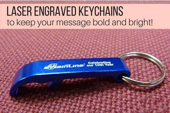 Laser engraved keychains