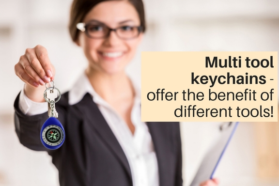 Multi tool keychains that offer the benefit of different tools!