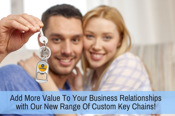 Add more value to your business relationships with Our New Range Of Custom Key Chains