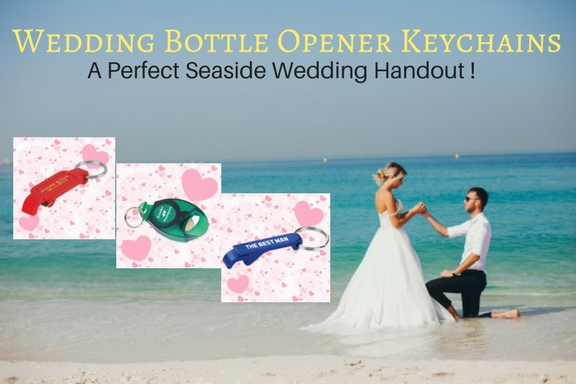 Wedding Bottle Opener Keychains