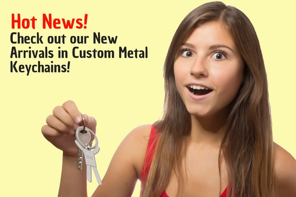 Hot News! Check out our New Arrivals in Custom Metal Keychains
