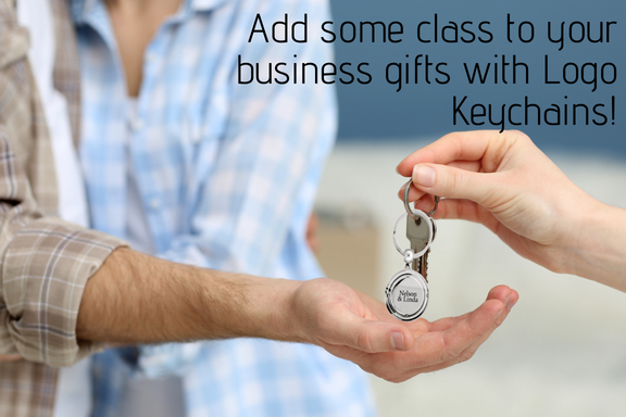 Add some class to your business gifts with Logo Keychains