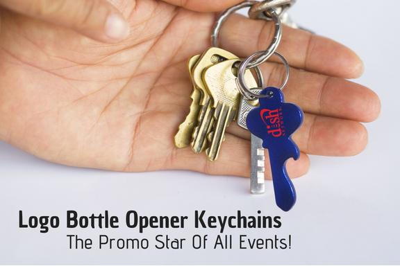 Logo Bottle Opener Keychains